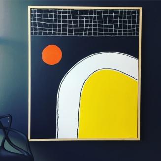 Orange sun 120X100