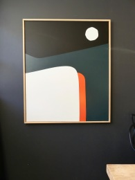 Available on Abstractmag.net Moon light 120X100 cm Acrylic on canvas
