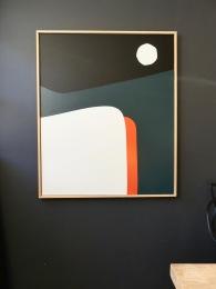 Available on Abstractmag.net Moon light 120X100 cm Acrylic on canvas
