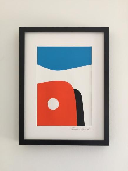 """""""CapFerret"""" 20X30cm Acrylique su Papier textileFrançois Bonnel"""