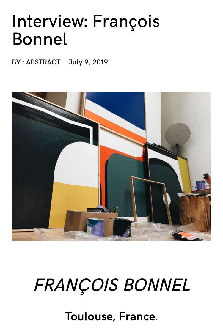 Interview François Bonnel for Abstract Mag