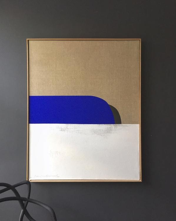"""The Blaze"" 80X100cm Acrylic on canvas Linen (Back side )"