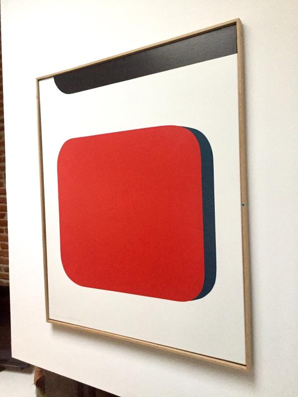"""""""Carré rouge"""" 120X100cm Acrylic on Canvas Francois Bonnel"""