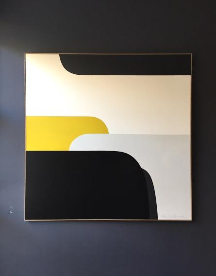 """Jain"" 120x120cm Acrylic on canvas François Bonnel"
