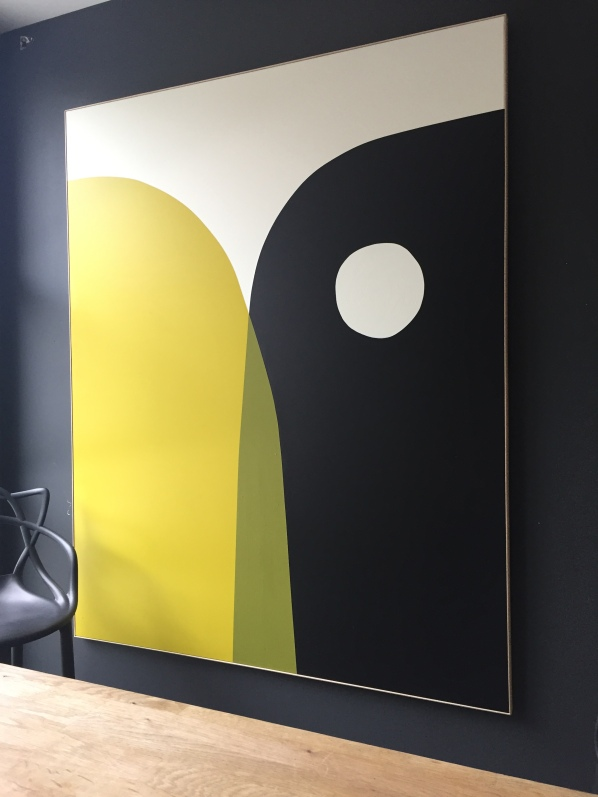 """Easier said than done"" 162x130cm Acrylic on canvas François Bonnel 2019"