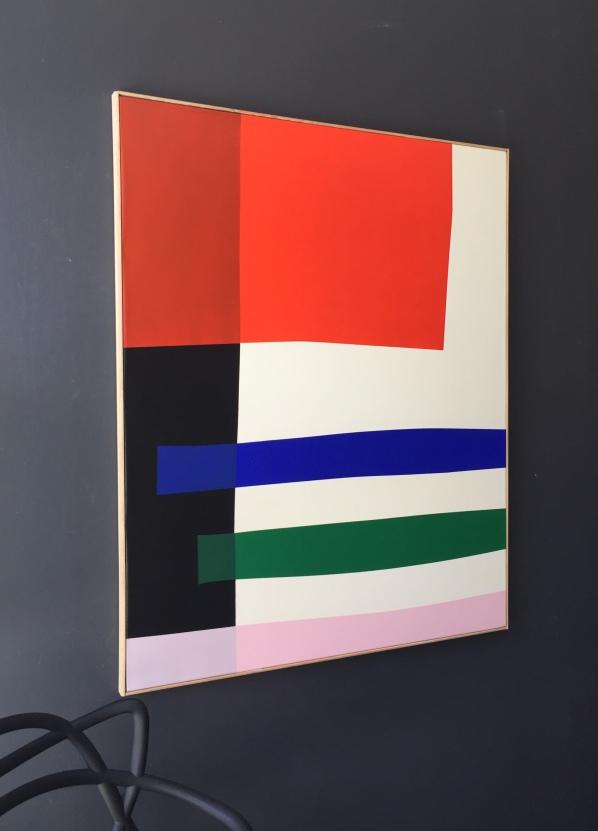 """""""Borderline"""" 100X81cm Acrylic on canvas François Bonnel 2020"""